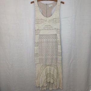 Anthropologie Greylin Cream Lacy Long Dress B-13